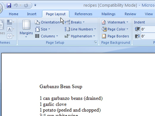 how to create a hanging indent on word