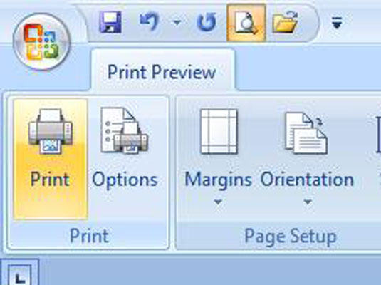 The Print button in Word's print preview menu.