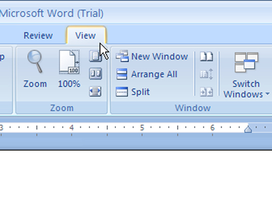 how to use outline view in word 2007