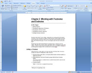 Adding a footnote in a Word document.