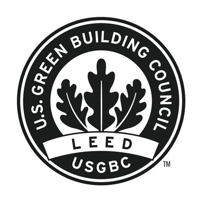 The Leadership in Energy and Environmental Design (LEED) logo.