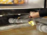 Keeping fridge coils clean helps keep the fridge green.