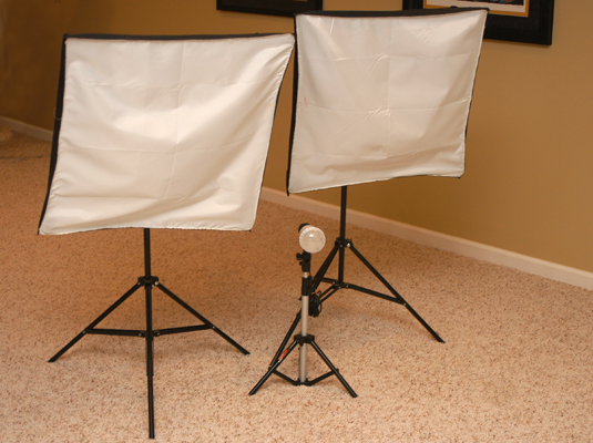 Bring the studio with you by getting a studio lighting kit.