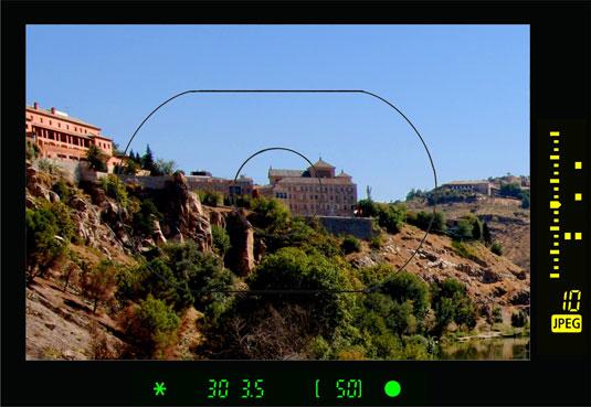 You get a big, bright view through a dSLR's viewfinder.