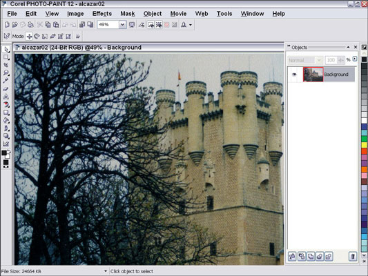 You can edit your digital photos in Corel Photo-Paint.