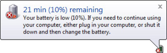 Check to see how much charge is left in your battery.