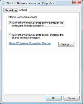 How to Share Your Laptop's Internet Access with Another PC