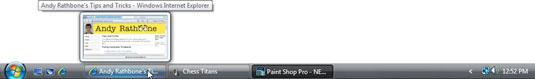 The Windows Vista taskbar.