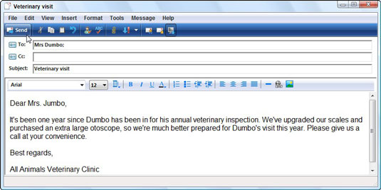 Write and send an e mail dummies use the new message window altavistaventures Images