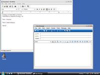 Two open programs on Windows.