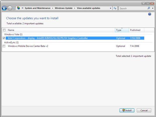 How to Run Windows Update in Windows Vista - dummies