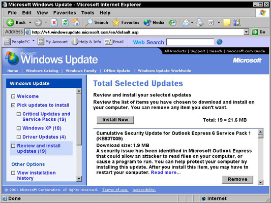 windows xp all updates download