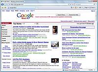 An open window in Internet Explorer.