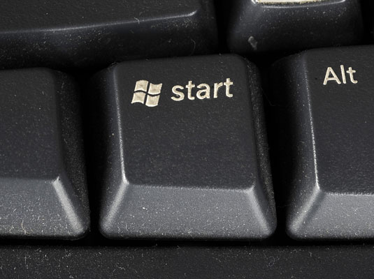 Windows key features the Windows logo.