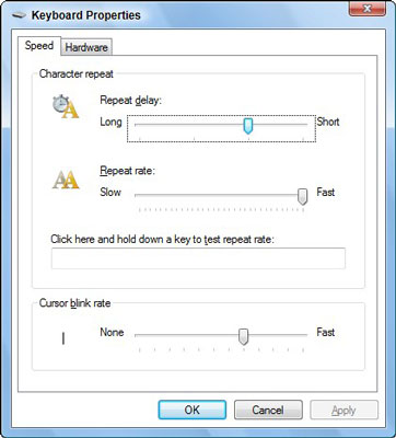 Control your keyboard using this dialog box.