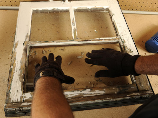 how to clean wood pane glass