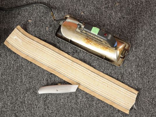 Tools needed to fix torn or ripped carpet: tools: heat-activated carpet tape, seam iron, utility knife.