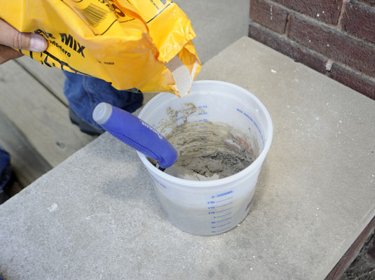 Mix Up Enough Mortar For 30 Minutes Use