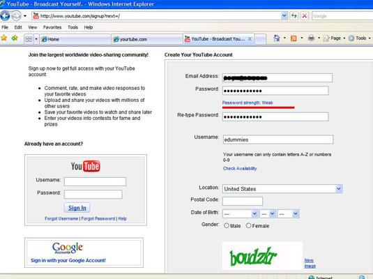 How to Create a YouTube Account - dummies