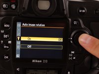 Customers can choose whether they want the camera to auto-rotate the photographs.