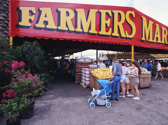 Meet the growers at a farmers' market. [Credit: PhotoDisc, Inc.]