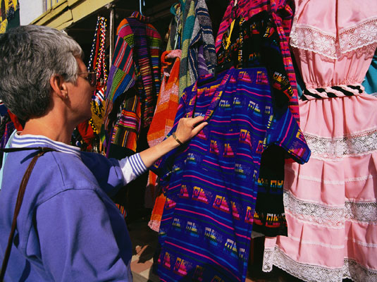 Find souvenirs and trinkets made by local artisans. [Credit: Corbis Digital Stock]