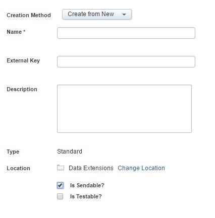 sendable data extension Salesforce Marketing Cloud