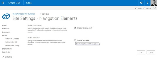 Tree View/navigation elements page