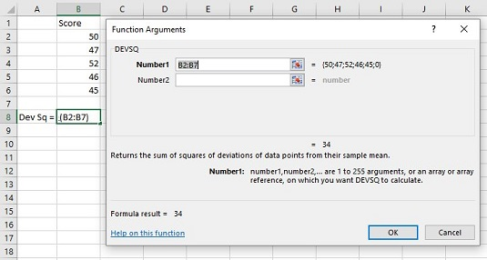 Variationrelated Worksheet Functions For Statistical Analysis With. Devsq Dialog Box. Worksheet. Worksheetfunction Stdev Range At Clickcart.co