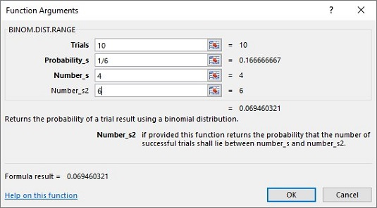 excel worksheet functions for binomial distribution dummies. Black Bedroom Furniture Sets. Home Design Ideas