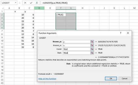 Using the Excel Array Function: LOGEST for Statistical Analysis ...