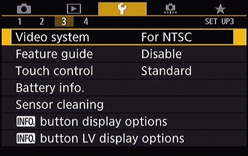 Setup Menu 3 EOS 80D