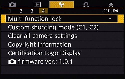 EOS 80D setup menu 4