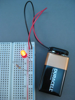 Positive Battery Terminal >> How to Breadboard an LED Circuit - dummies