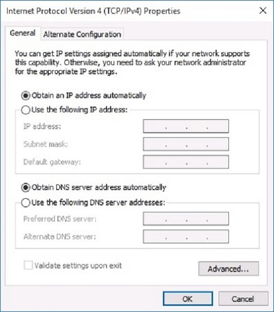 change network card settings windows 10