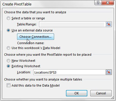 Create a Pivot Table Using Excel's Internal Data Model - dummies