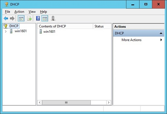 DHCP management console