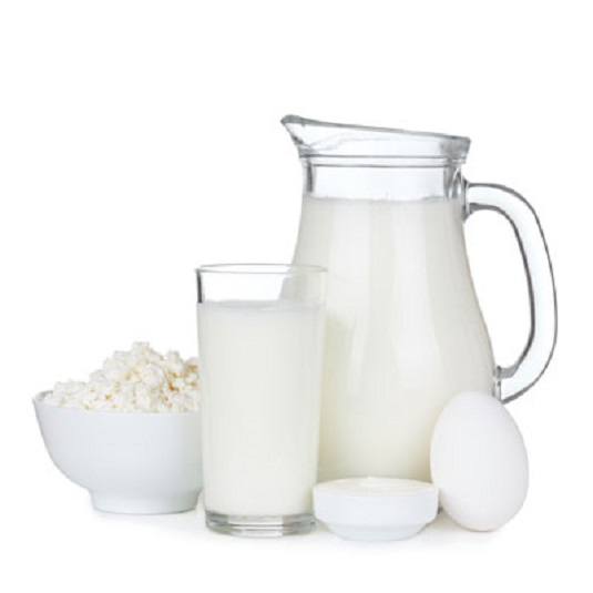 Dairy products, including, milk, butter, eggs, and cheese.