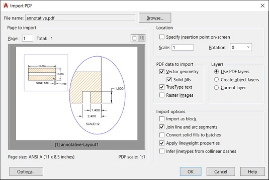Editing PDF and Other Drawing File Formats in AutoCAD - dummies