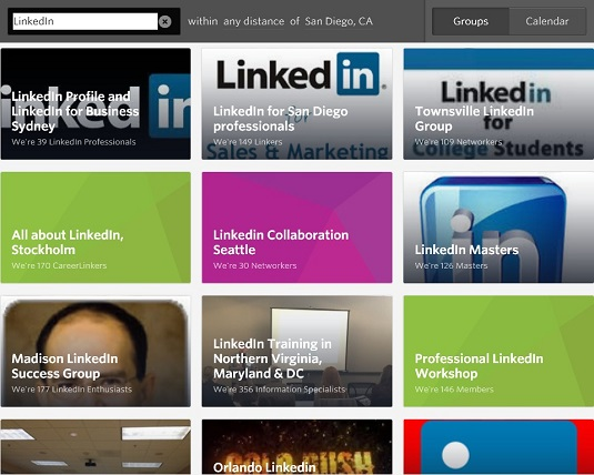 LinkedIn in-person groups