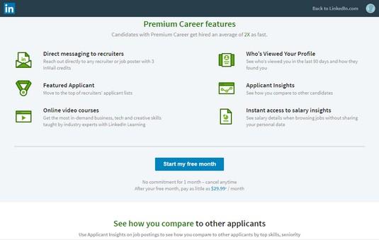 LinkedIn premium account
