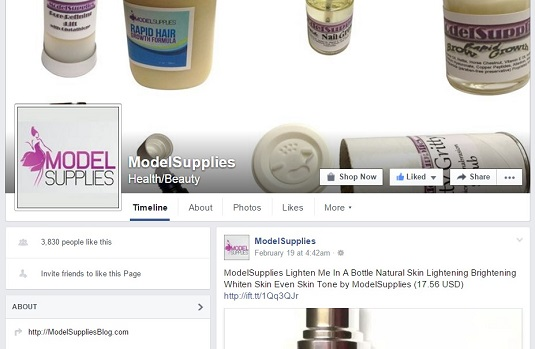 ModelSupplies Facebook page