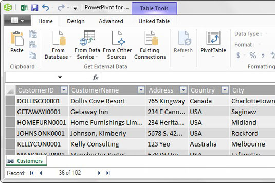 Add Excel Tables to the Power Pivot Data Model - dummies