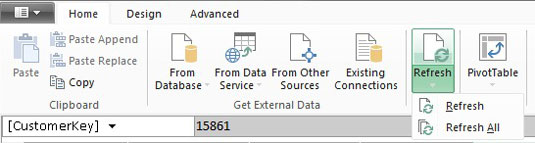 Refresh and Manage Power Pivot External Data Connections - dummies