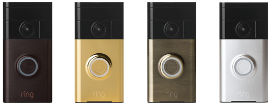 The four faceplates the Ring Doorbell comes in