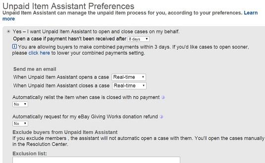 Unpaid Item Assistant