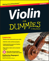 Violin For Dummies, Book + Online Video & Audio Instruction, 3rd Edition