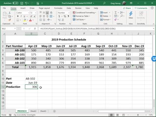 nested XLOOKUP functions