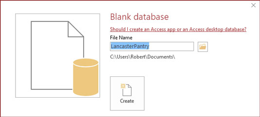 access-database-name