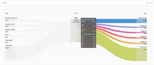 Visualizing flow in Adobe Analytics